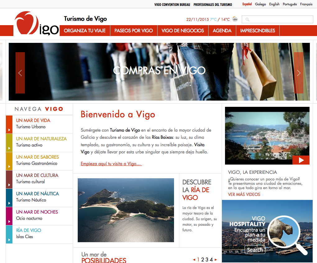 Turismo de Vigo web