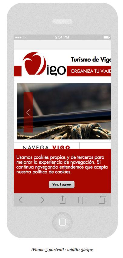 Turismo de Vigo no responsive